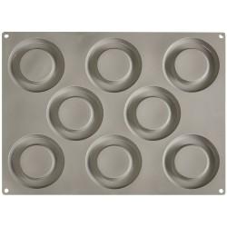 Teglie e stampi: Gourmand stampo in silicone 8 impronte tondo 㘠100