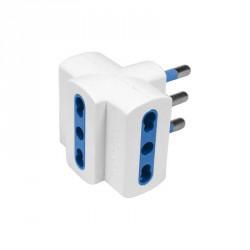 Accessori elettrici: Adattatore imq con 3 prese bivalenti 10/16a - spina 16a - blister