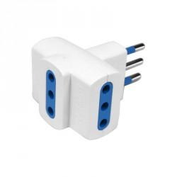 Accessori elettrici: Adattatore imq con 3 prese 10a - spina 10a - blister