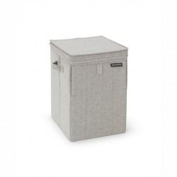 Cestello portabiancheria sovrapponibile 35 lt - color grey - linea laundry