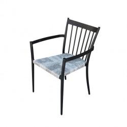 Panche e sedie: Martinica poltrona impilabile antracite