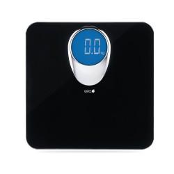 Bilance per persone: Bilancia pesapersone digitale in vetro nero 180kg/100g