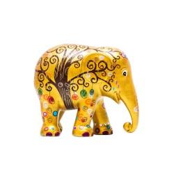 Elefantino d'autore - arte tree of life - h cm 30 - statuetta solidale