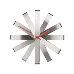 Orologi: Ribbon orologio da parete steel