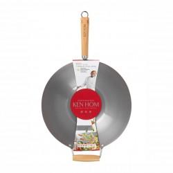 Cotture speciali: Excellence wok in acciaio al carbonio 36 cm