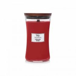 Candela con fragranza profumata: pomegranate - serie jar - grande formato