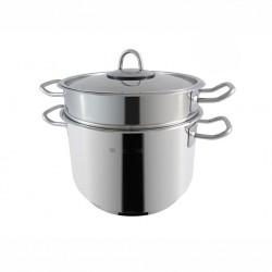 Pentole in acciaio: Grancucina spaghettiera 22 cm con coperchio