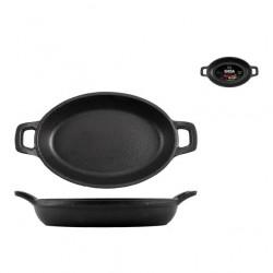 Cotture speciali: Tegame ovale in ghisa 2 manici 12x18 cm
