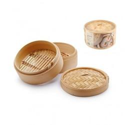 Cottura al vapore: Cuocivapore bamboo 3 pz cm 23