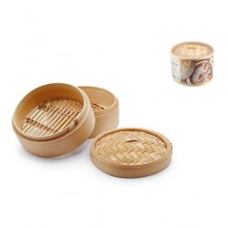 Cottura al vapore: Cuocivapore bamboo 3 pz cm 18