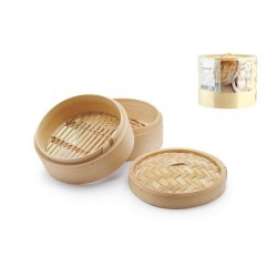Cottura al vapore: Cuocivapore bamboo 3 pz cm 13,5