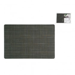 Tovaglie e tovagliette: Jacquard tovaglietta americana antimacchia 31x46 cm damero liso grigio