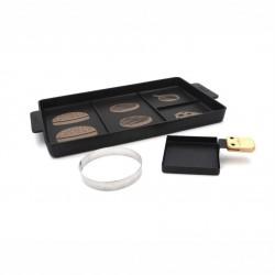 Bistecchiere e piastre: Grill per hamburger con accessori