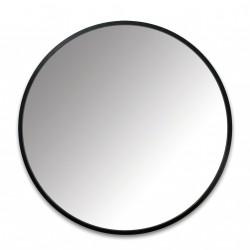 Specchiera forma tondo 45 profilo cm black - serie hub