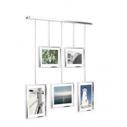 Complementi a muro: Exhibit portafoto da parete chrome