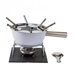 Fondute: Grey fonduta in alluminio antiaderente con base in ardesia