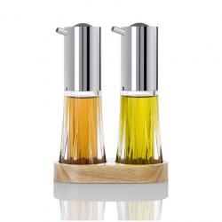 Oliere e porta ampolle: Menage dosaolio e aceto crystal