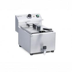 Friggitrici, bollitori, vaporiere: Friggitrice mastercook con rubinetto 8 lt 3500 w 209202