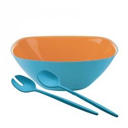 Ciotole, coppette ed insalatiere: Vintage plus set insalata azzurra e arancio