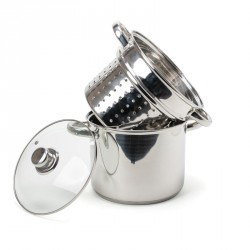 Pentole in acciaio: Special kitchen pastaiola con coperchio 20 cm