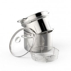 Cottura al vapore: Pasta & vapore multiset 22 cm