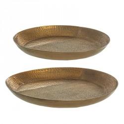 Piatto decorativo - size s - serie oro - linea hammel