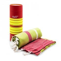 Tessile bagno: Miami telomare 100% cotone righe rosse e verdi