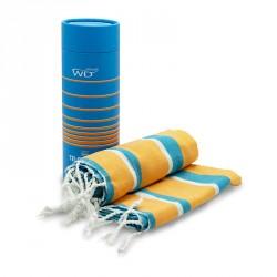 Tessile bagno: Miami telomare 100% cotone righe blu e gialle