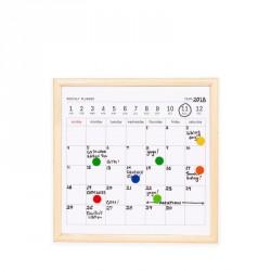 Stile office: Calendario a lavagna con pennarelli e magnete