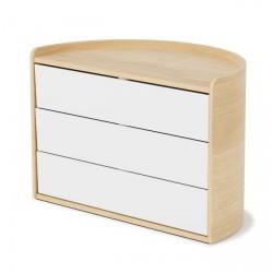Cassettiere: Moona storage box white natural