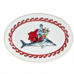 Piatti singoli: Viaggio di nettuno piatto ovale cm 34