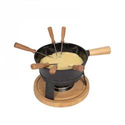 Fondute: Set fonduta in ghisa per formaggio pro l nero