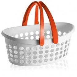 Accessori per il tessile: Love cesta ovale bianca