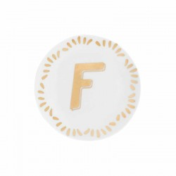 Piattino con lettera f - serie lettering