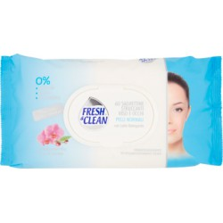 Fresh&Clean salviettine struccanti viso e occhi pelli normali 60 pz