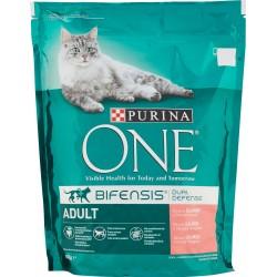 Purina crocchette per gatti adulti con salmone e cereali integrali sacco 800g