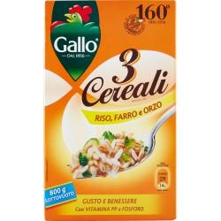 Gallo 3 Cereali Riso, Farro e Orzo gr.800