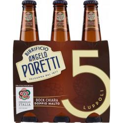 Poretti bock birra cl.33 cluster x3