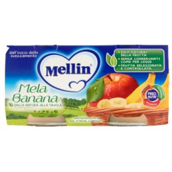 Mellin omogenizzato alla mela e banana - gr.100 pz.2