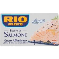 Rio mare Filetto di Salmone Gusto Affumicato all'Olio di Oliva con Grani di Pepe al Vapore 150 gr.
