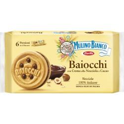 Mulino Bianco baiocchi multipacco nocciola - gr.336