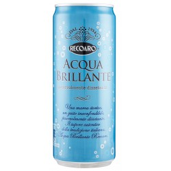 Recoaro acqua brillante lattina sleek cl.33