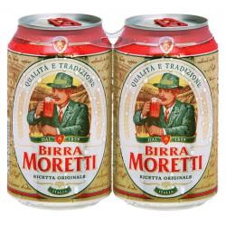 Moretti birra lattina cl.33 clust. x2