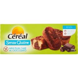 Céréal Senza Glutine Mini Plum Cake al Cioccolato 6 merendine gr.200