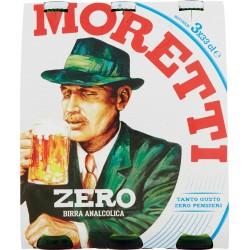 Moretti zero birra cl.33 cluster 3pezzi