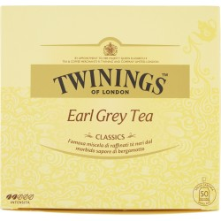Twinings Classics Earl Grey Tea 100 gr. 50 filtri