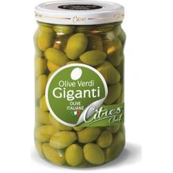 Citres olive verdi giganti in salamoia vaso da kg.1,55
