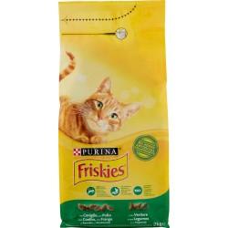 Friskies Purina gatto crocchette adult con coniglio, pollo e verdure sacco kg.2