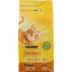 Friskies Purina gatto crocchette adult con pollo, tacchino e olive sacco kg.2