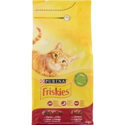 Friskies Purina gatto crocchette adult con manzo, pollo e verdure sacco kg2